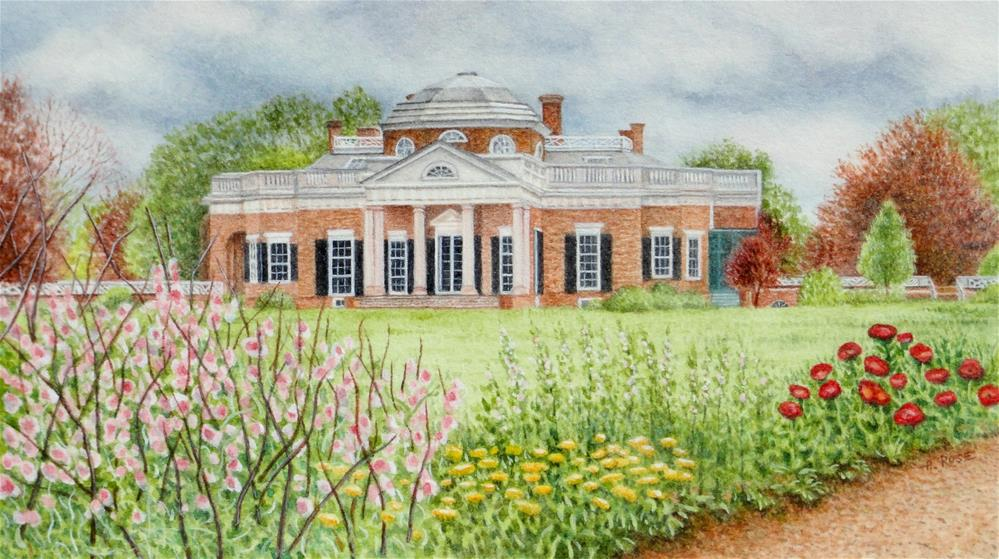 """Monticello - Spring Storm"" original fine art by Heidi Rose"