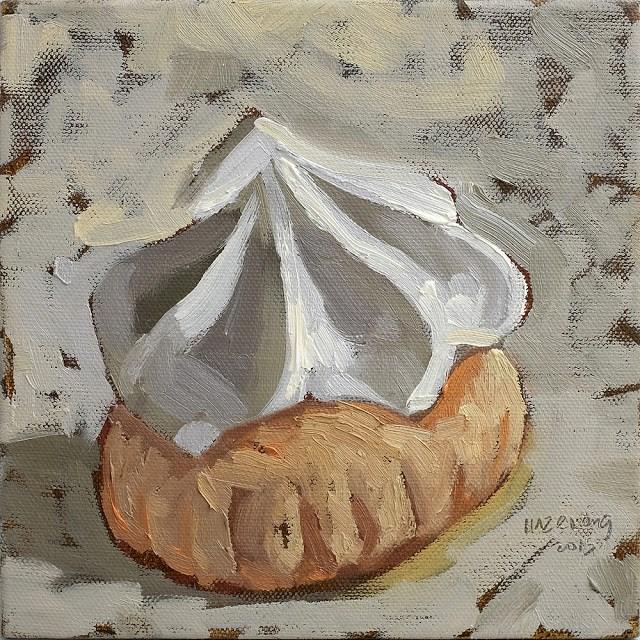 """White Sugar Biscuit"" original fine art by Haze Long"