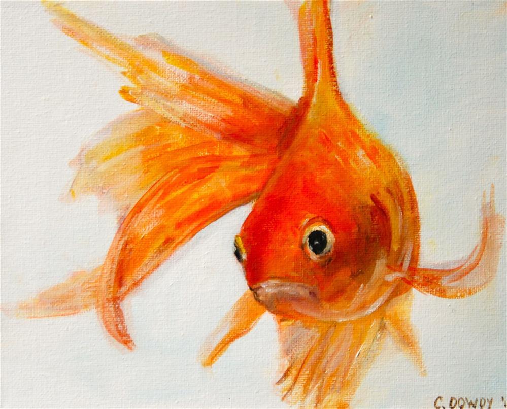 """""""No More Fish Food? Part I"""" original fine art by Christina Dowdy"""