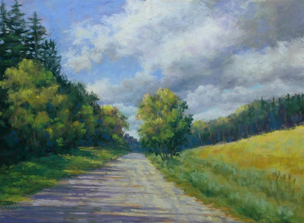 """Down the Road a Piece"" original fine art by Susan Klabak"