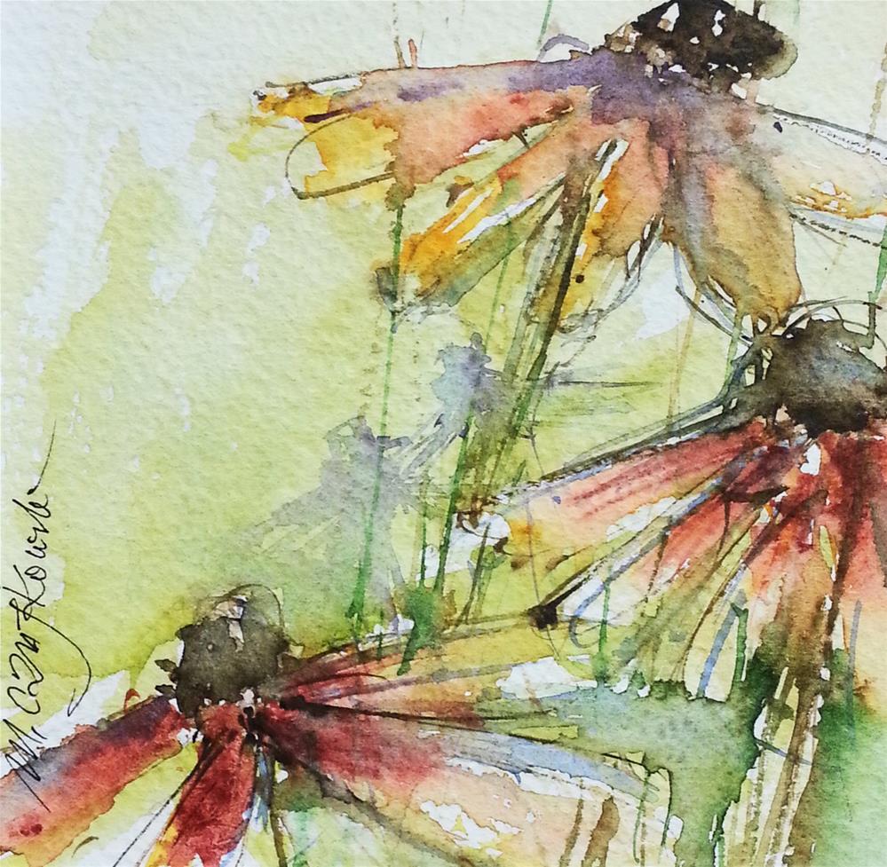 """Rudbeckia 6"" original fine art by Marlena Czajkowska"