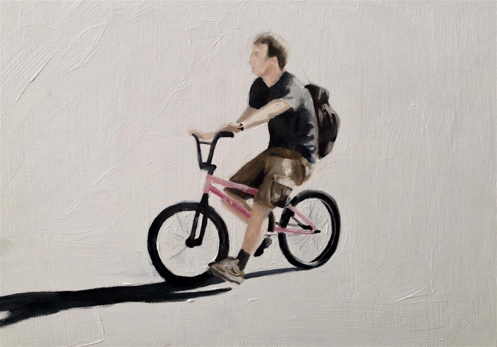 """Cycling"" original fine art by James Coates"