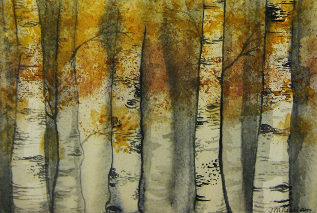 """Silver and Gold"" original fine art by J M Needham"