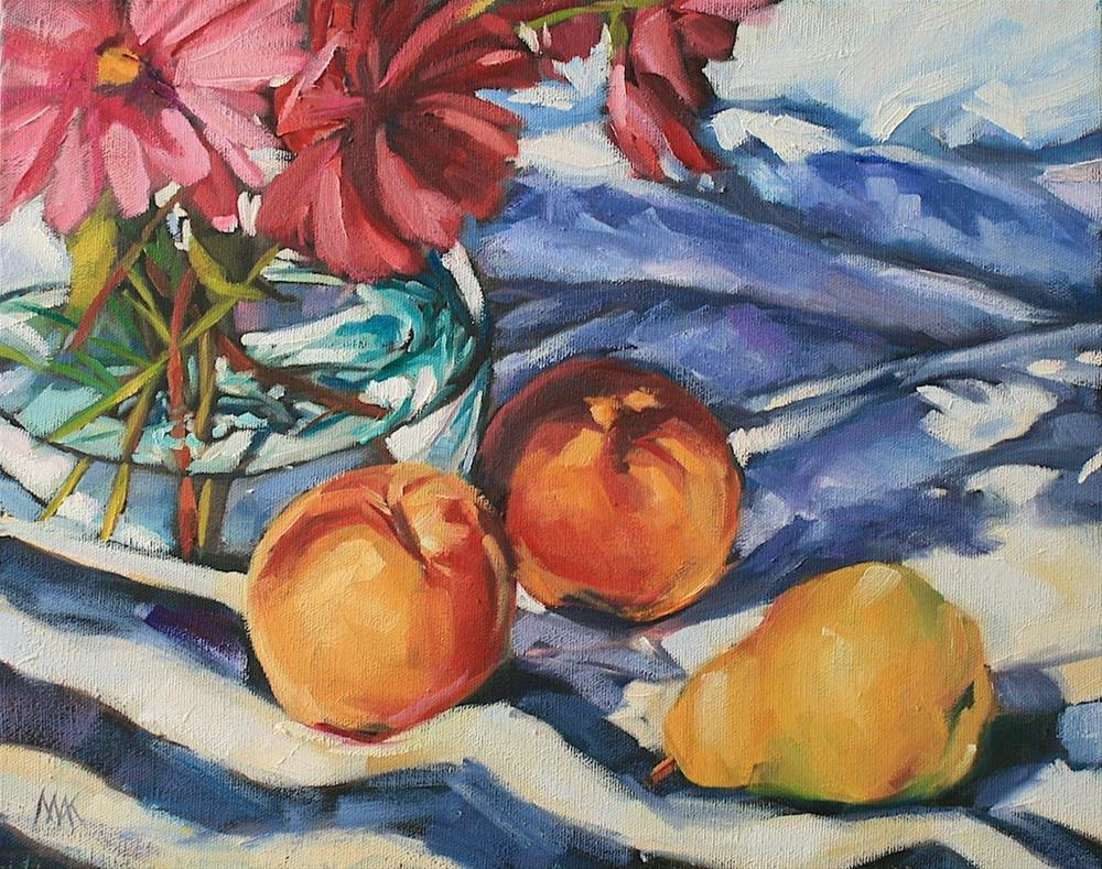 """Still Life with Stripes 2"" original fine art by Mary Anne Cary"