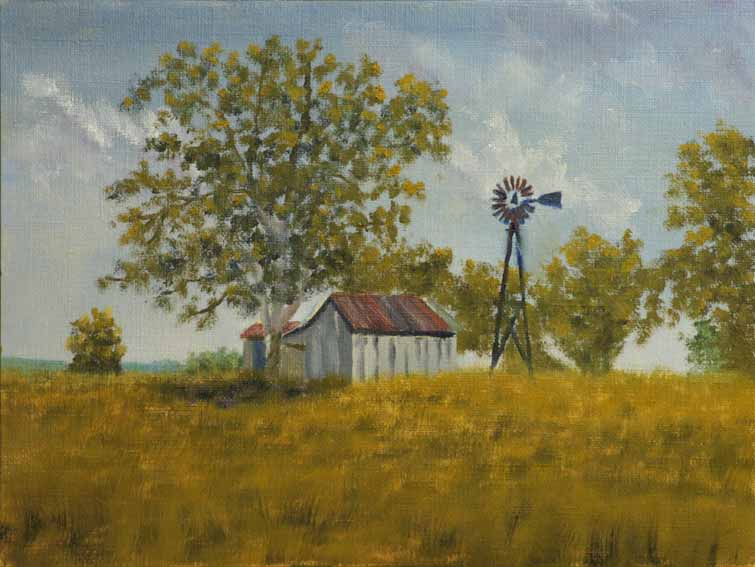 """Sycamore Ranch, Midday - landscape painting by Kirk Witmer"" original fine art by Kirk Witmer"