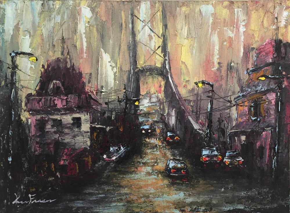 """Misty Evening"" original fine art by Ken Fraser"