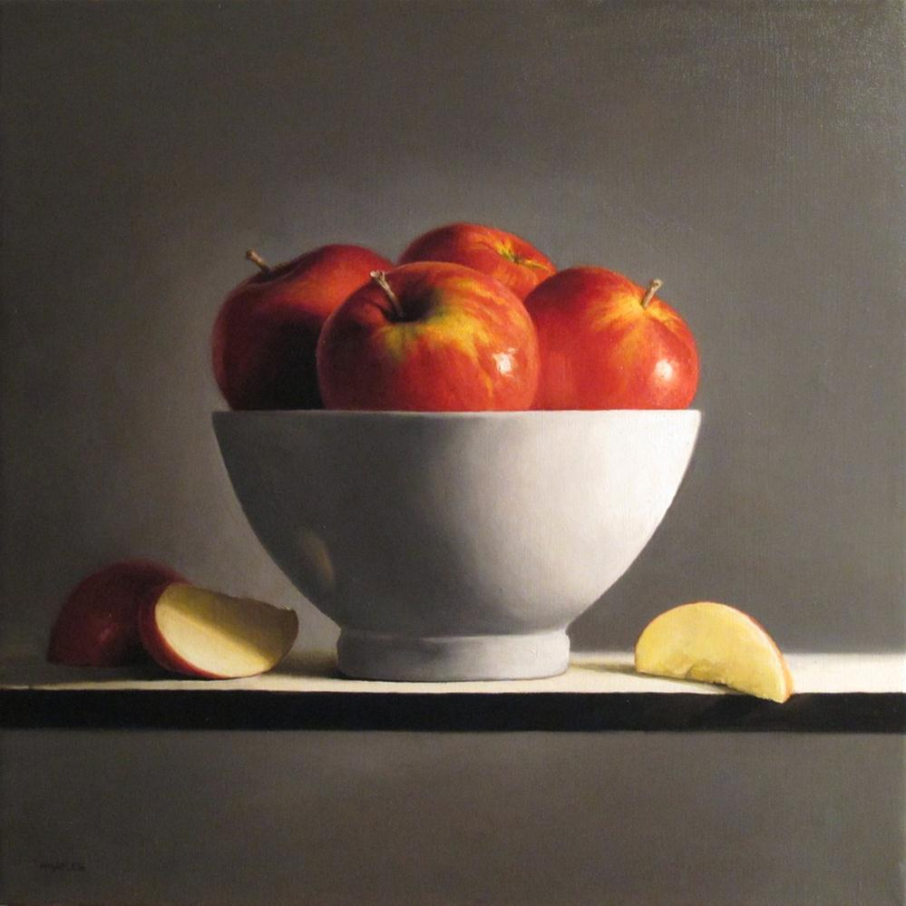 """Bowl of Apples No.4"" original fine art by Michael Naples"