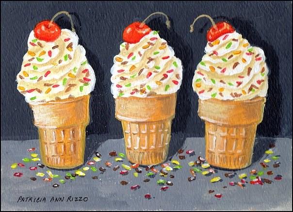 """""""Summertime Treats"""" original fine art by Patricia Ann Rizzo"""