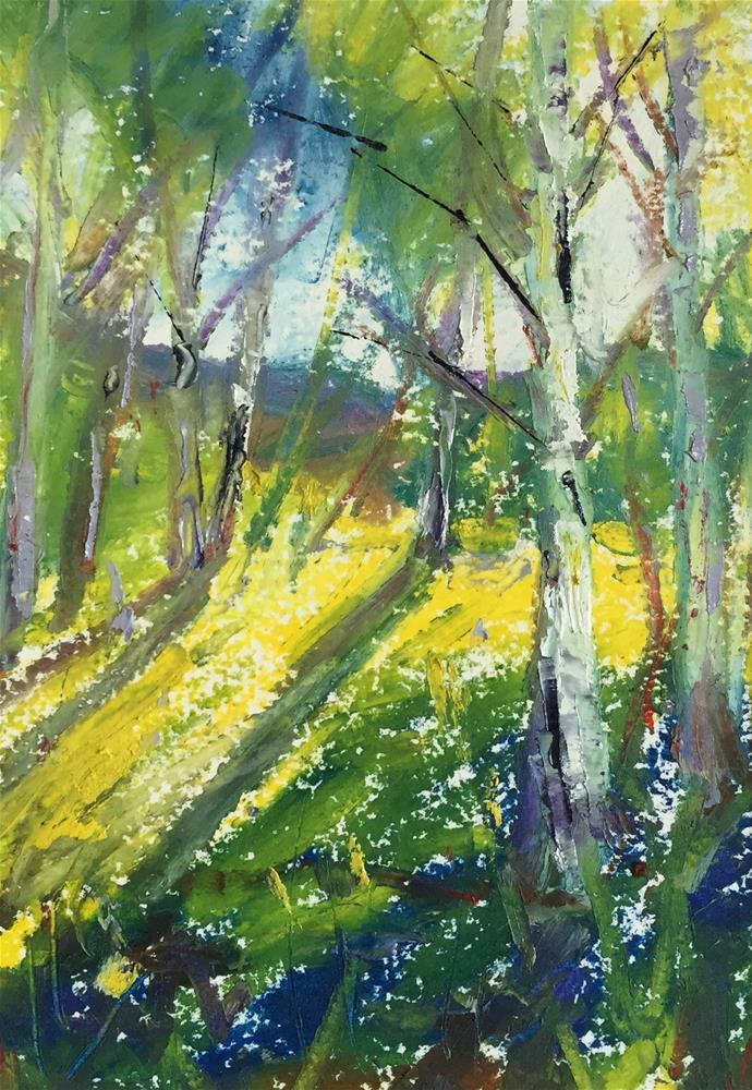 """Summer Aspens"" original fine art by Martin Beauchamp"