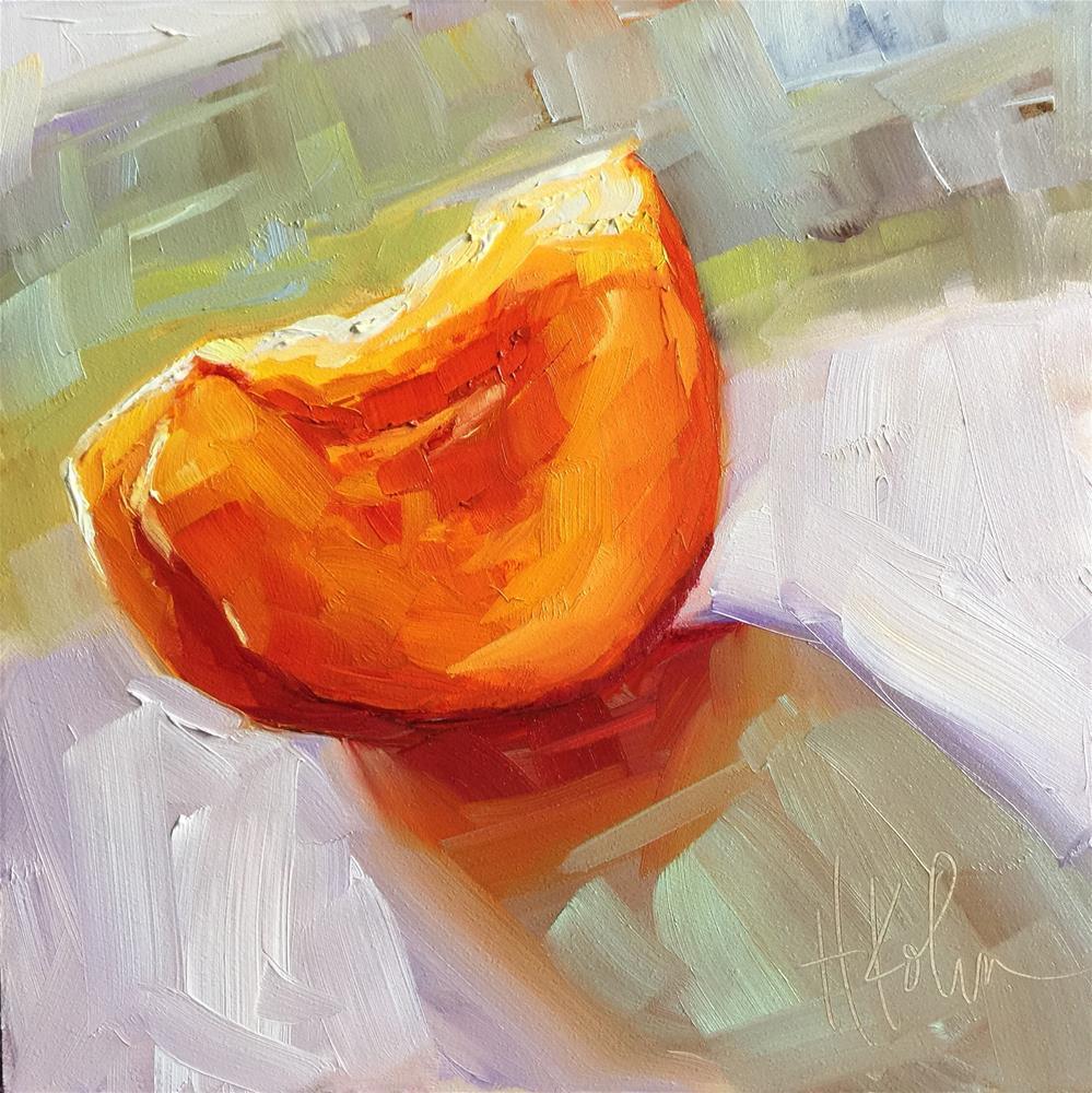 """Peach 2"" original fine art by Hallie Kohn"