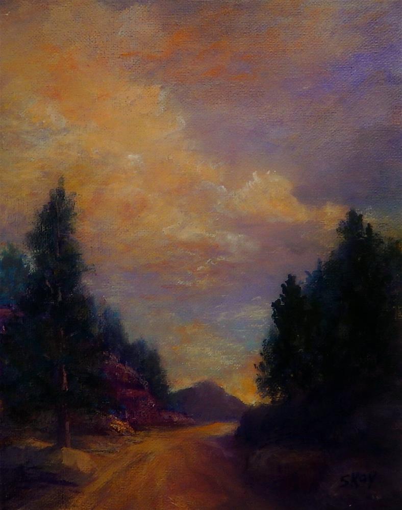 """Sundown Road"" original fine art by Sharon Kay Baker"