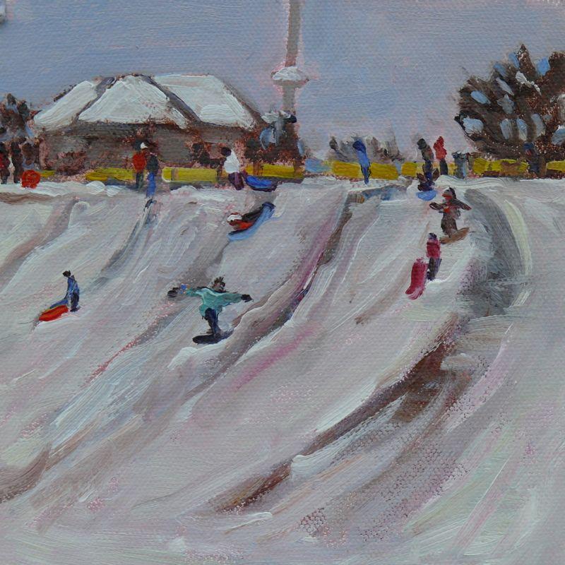 """Dallas Road Snow"" original fine art by Darlene Young"