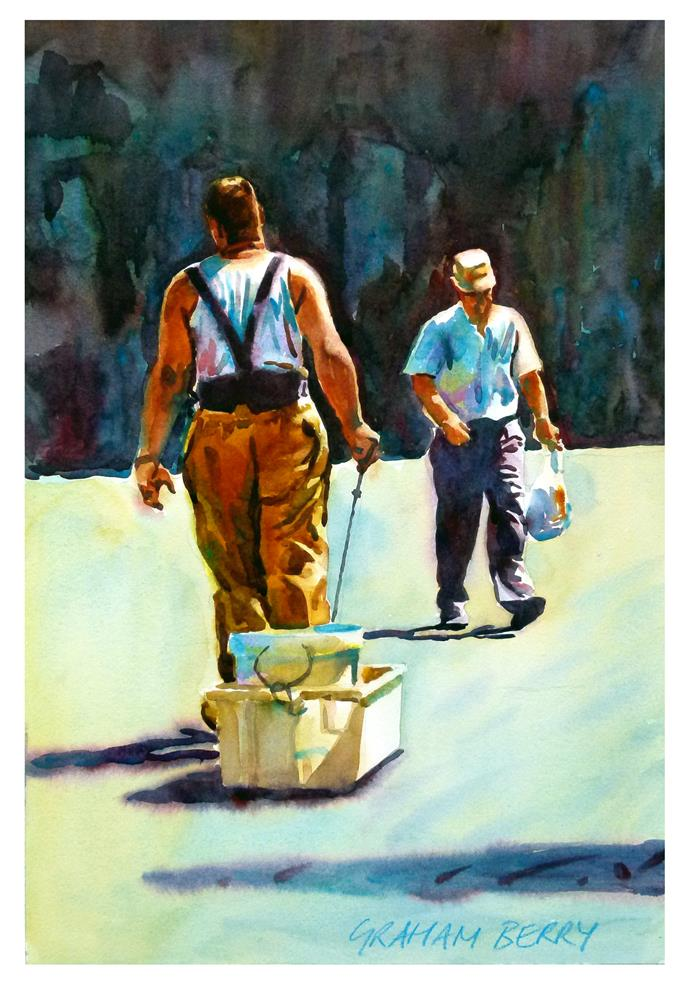 """Fetching and carrying."" original fine art by Graham Berry"