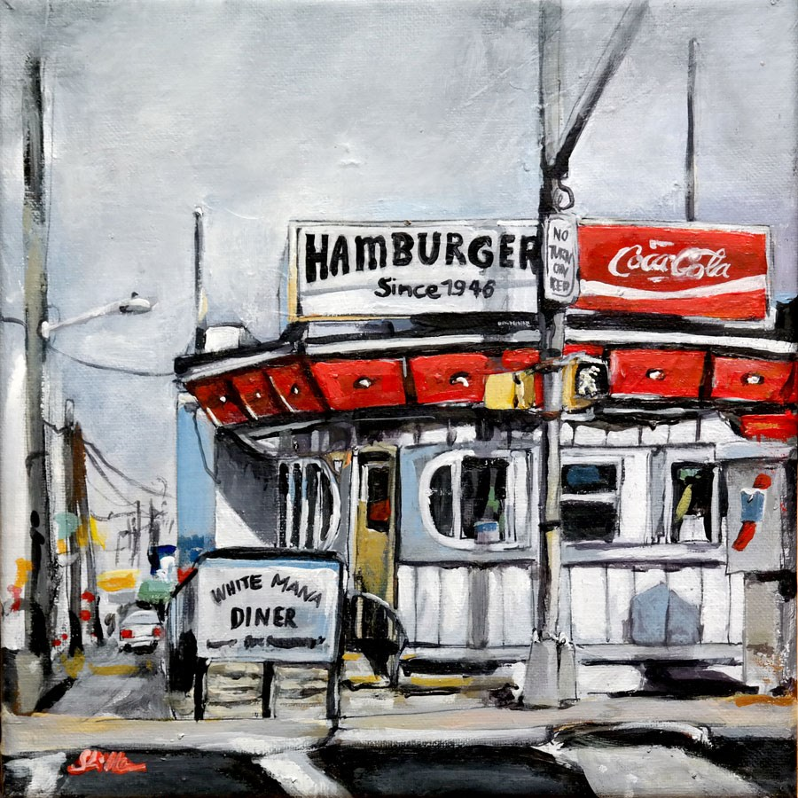 """1672 American Diner"" original fine art by Dietmar Stiller"