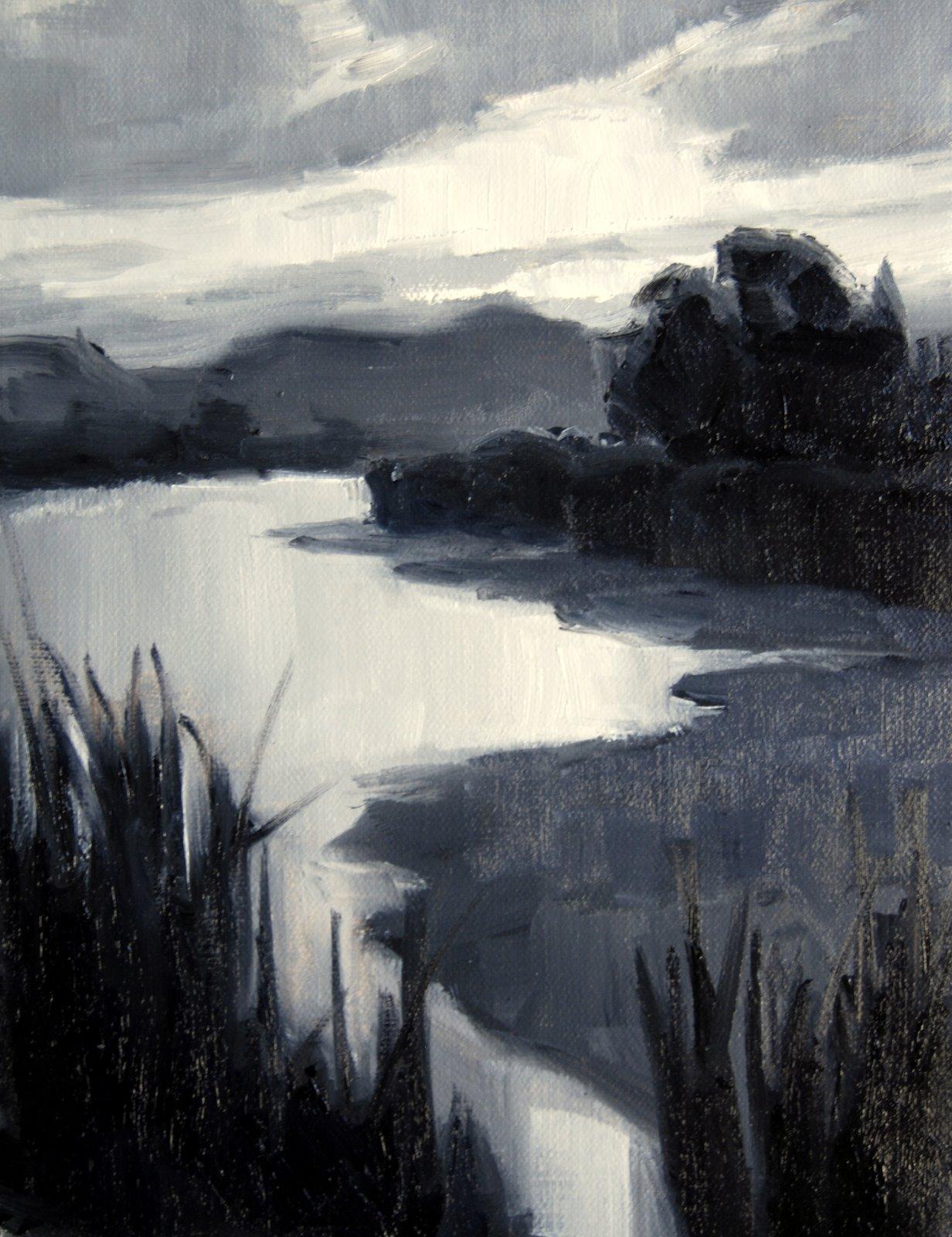 Sunrise over the Rio Grande original fine art by Julie Ford Oliver