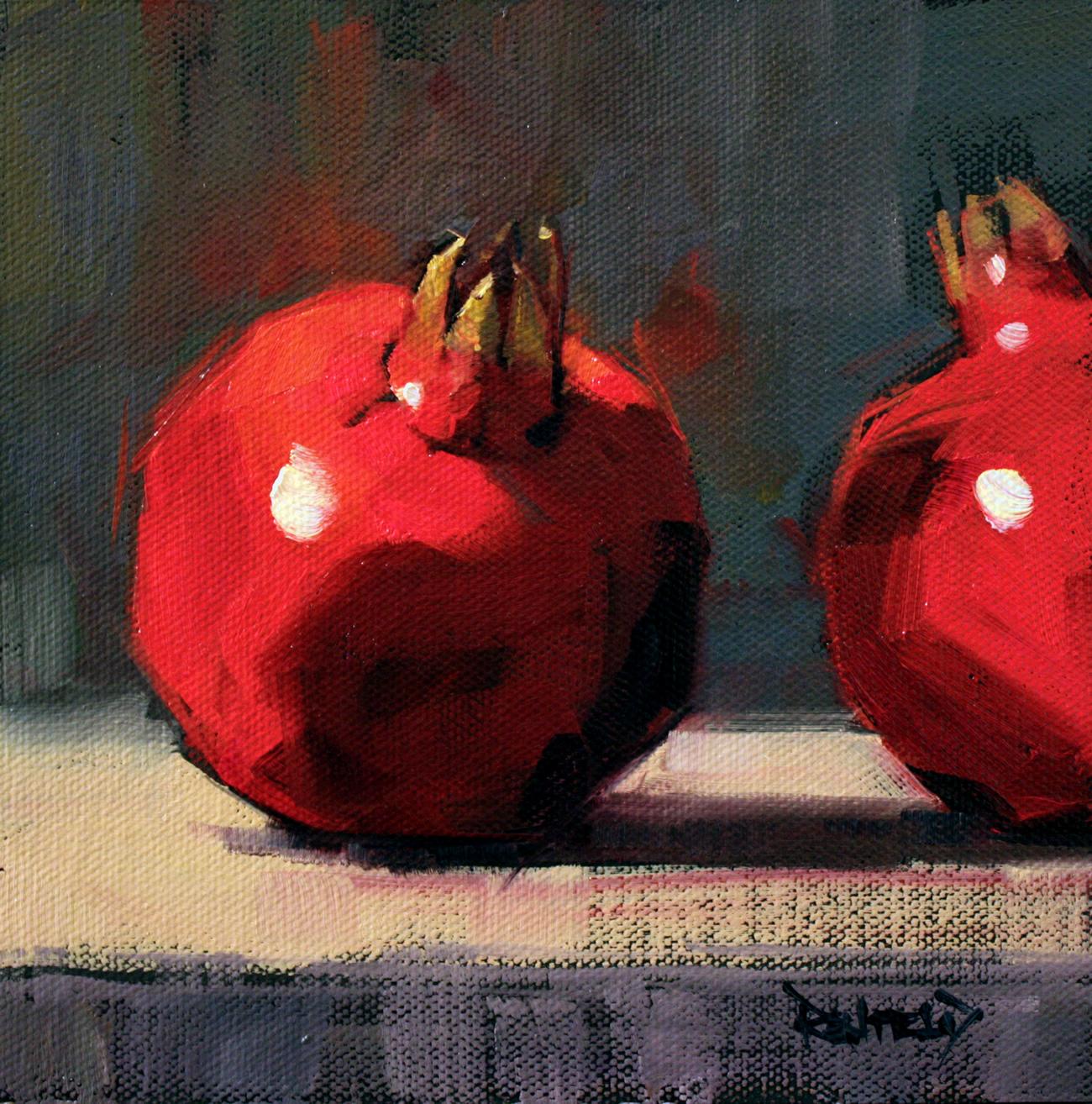 """2 Poms"" original fine art by Cathleen Rehfeld"