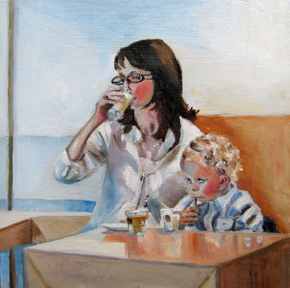 """Something to drink"" original fine art by Ulrike Miesen-Schuermann"