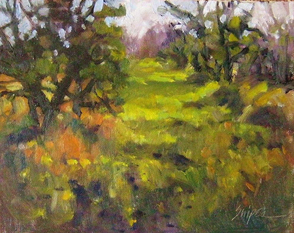"""Olive Grove"" original fine art by Connie Snipes"