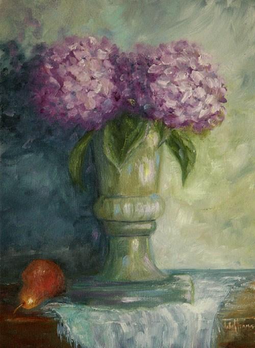 """Purple Hydrangeas"" original fine art by Sunny Williams"