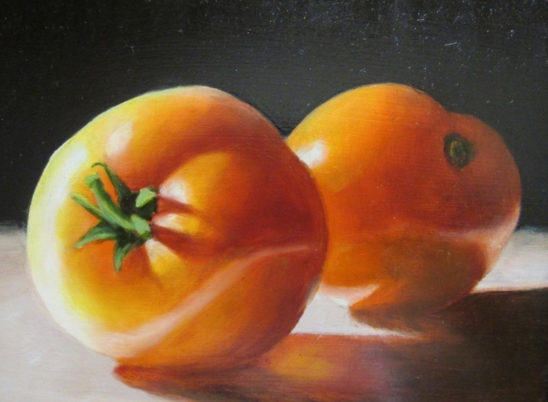 """Tomato Twins"" original fine art by Ruth Stewart"