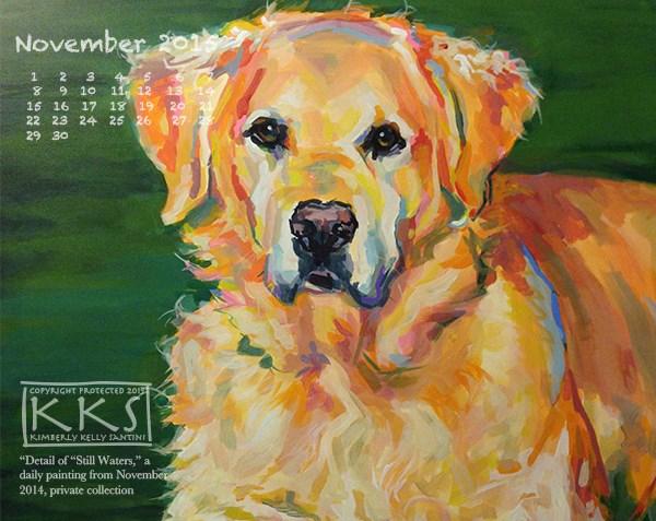 """November Desktop Calendar"" original fine art by Kimberly Santini"