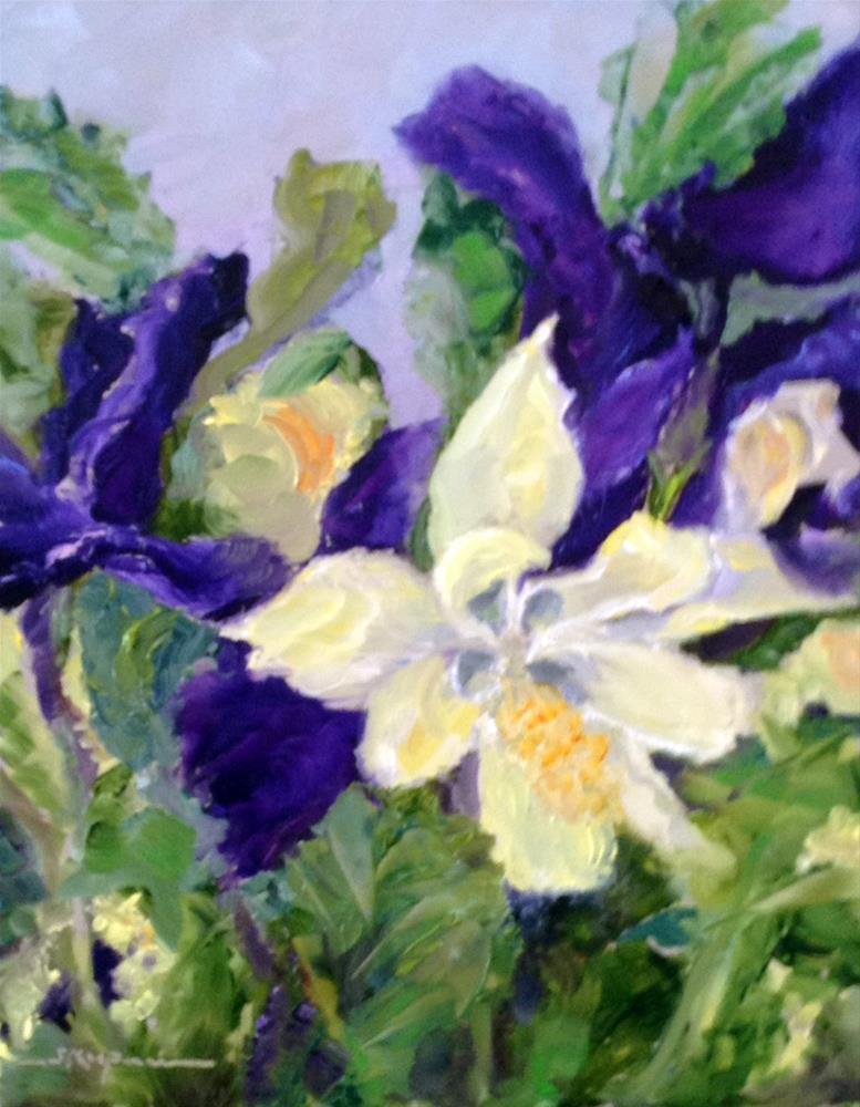 """""""Island Creek Farm Bouquet"""" original fine art by Shelley Koopmann"""
