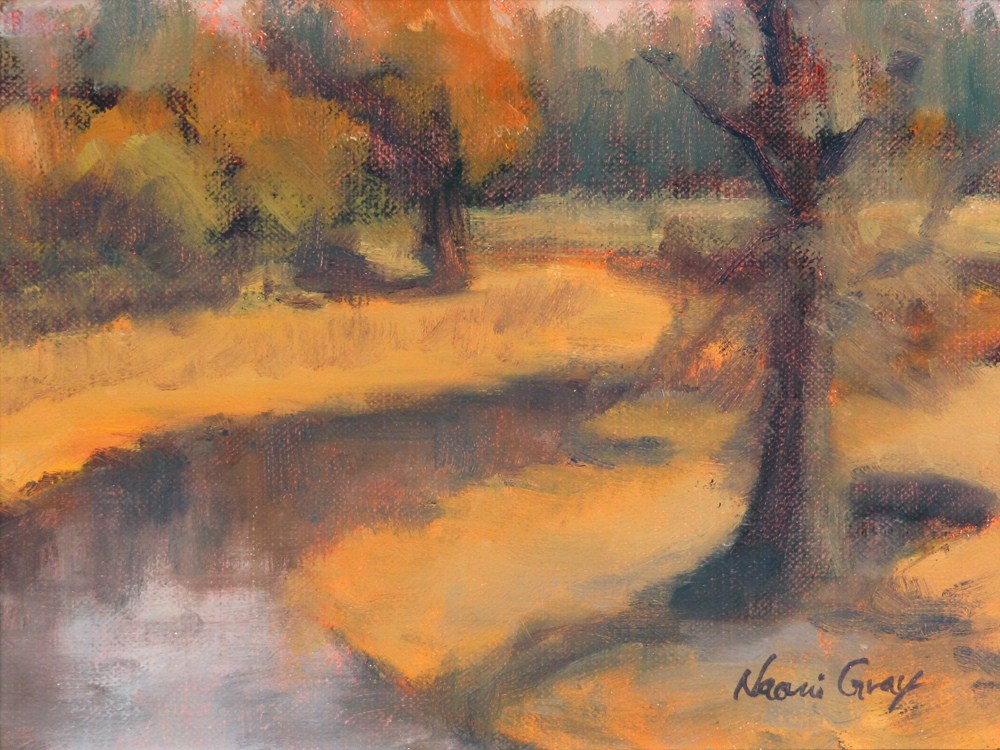 """Meadow Yellow"" original fine art by Naomi Gray"
