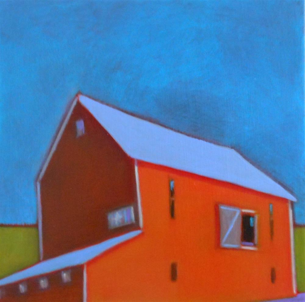 """Roadside Barn"" original fine art by Almira Hill Grammer"