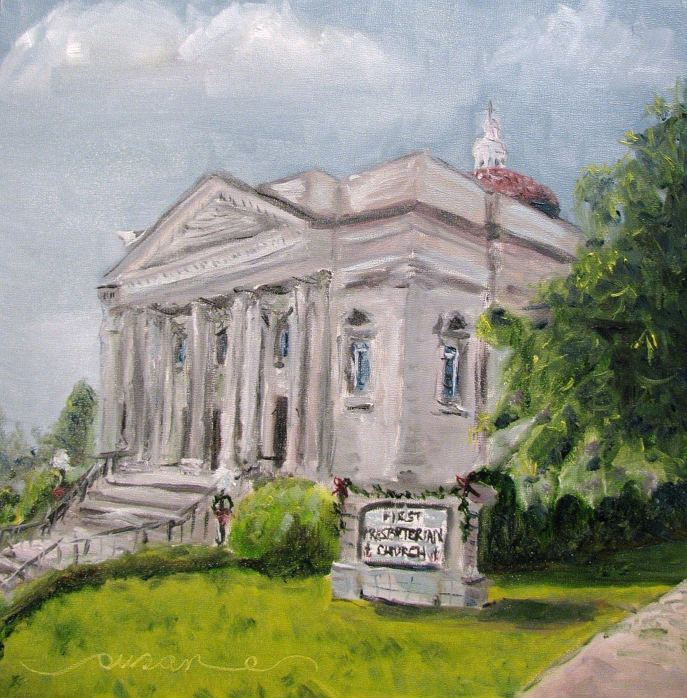"""First Presbyterian Church"" original fine art by Susan Elizabeth Jones"