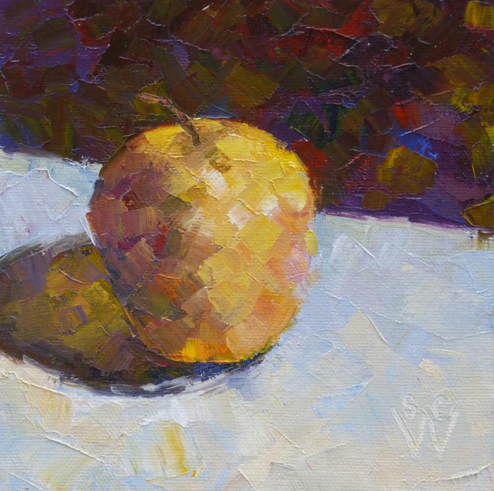 """""""Opal in Gold"""" original fine art by Susan Woodward"""