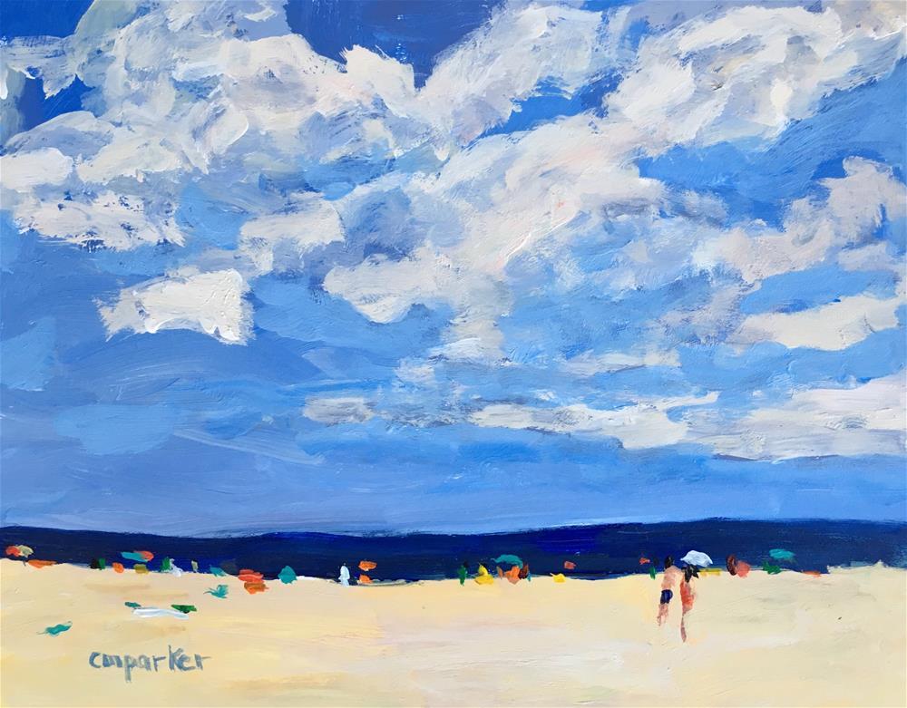 """Seascape 3/2/17"" original fine art by Christine Parker"