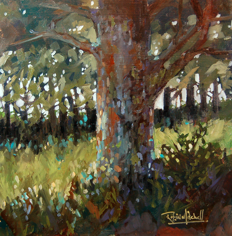 """No 358 The Big Oak"" original fine art by Robin J Mitchell"