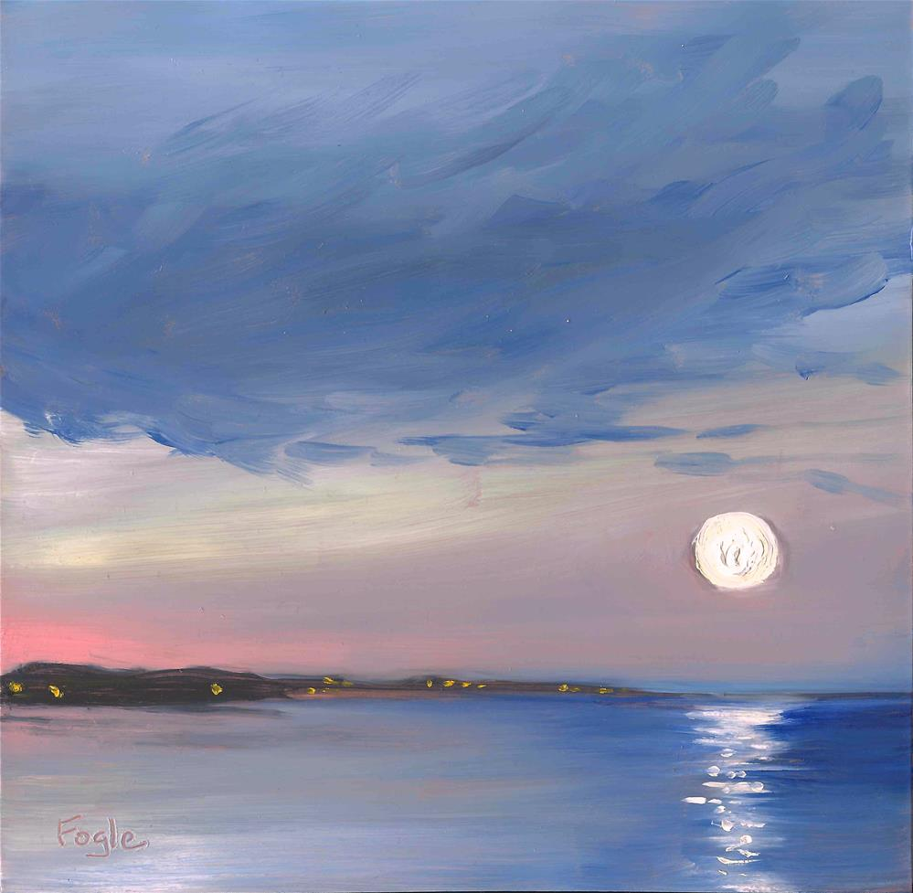"""Leslie's Supermoon"" original fine art by Rachel Fogle"