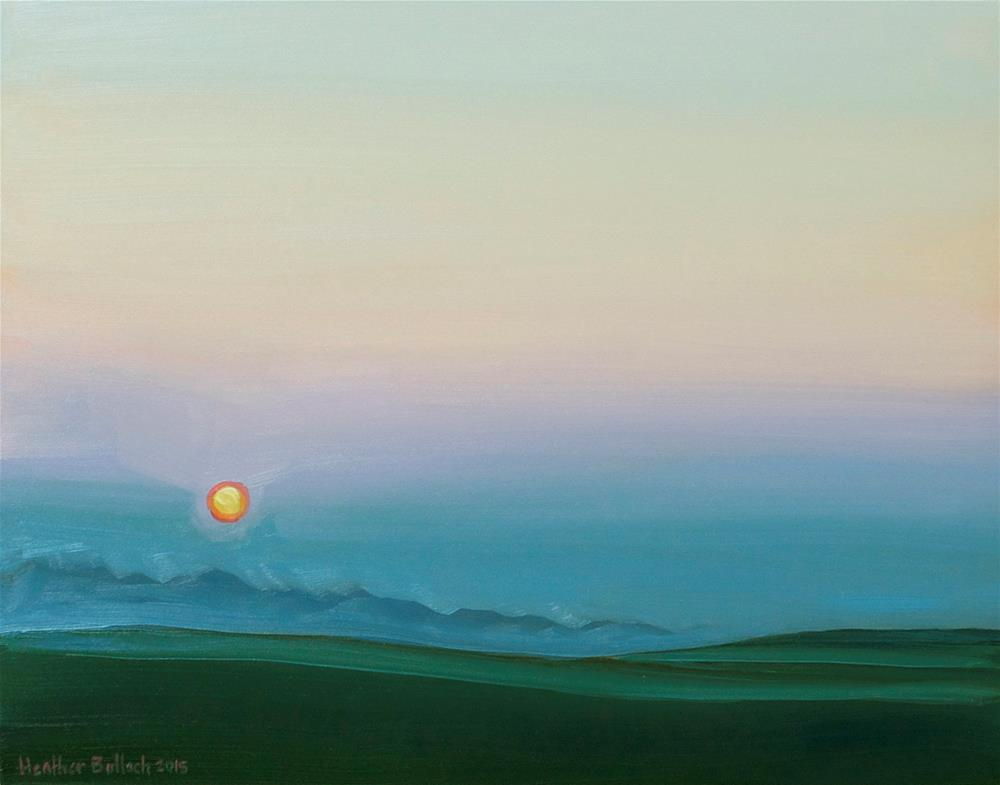 """Summer Haze"" original fine art by Heather Bullach"