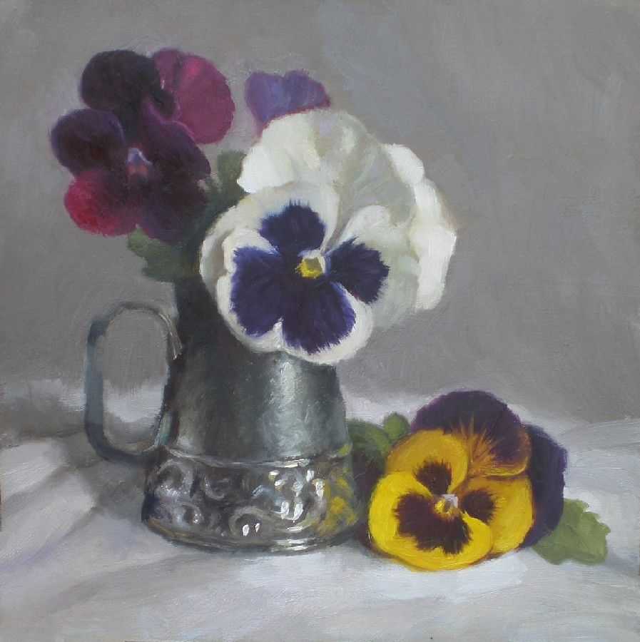 """Pansies"" original fine art by Debra Becks Cooper"