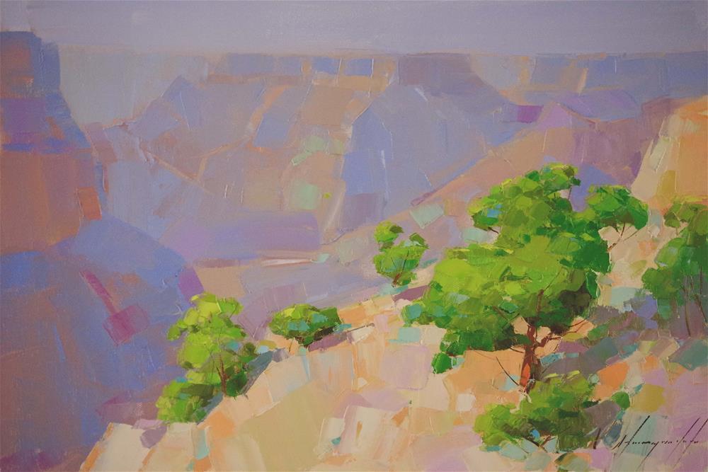 """Grand Canyon Original oil Painting Handmade Art"" original fine art by V Y"