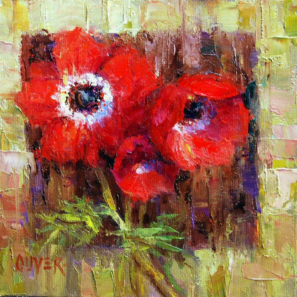 """anemones"" original fine art by Julie Ford Oliver"