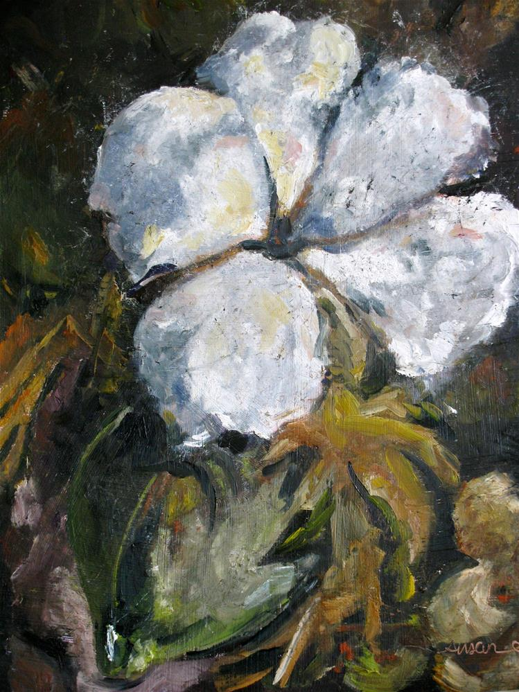 """King Cotton"" original fine art by Susan Elizabeth Jones"