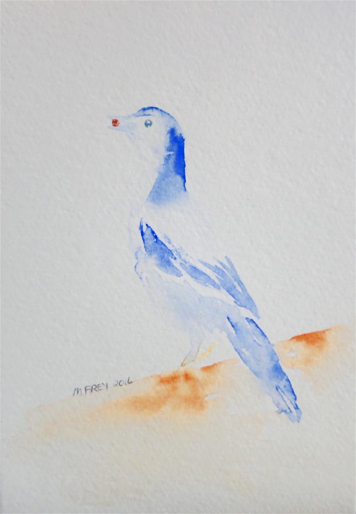 """Bird 092"" original fine art by Michelina Frey"