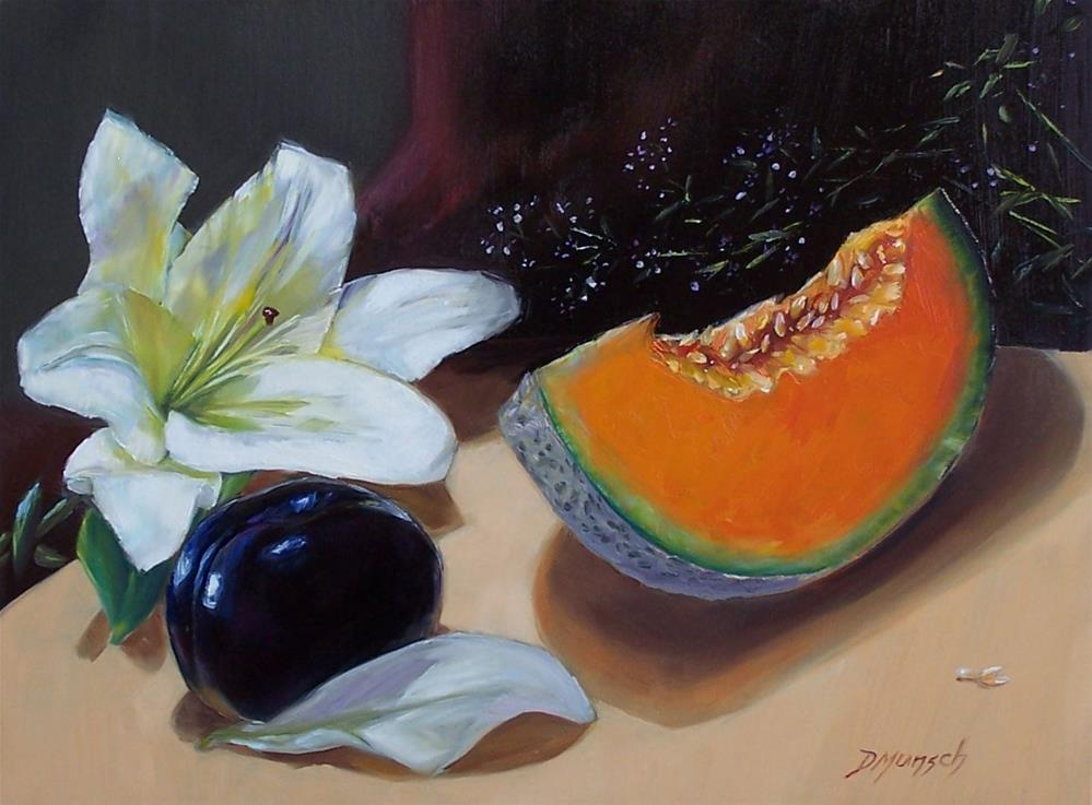"""Lily Plum Melon"" original fine art by Donna Munsch"