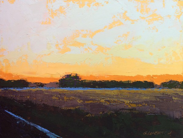 """Minervaville, Winter Sunset"" original fine art by Mary Gilkerson"