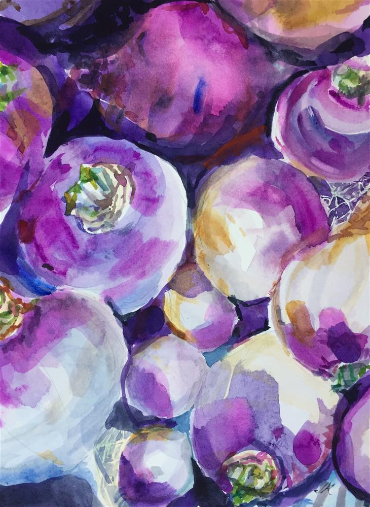 """Turnips"" original fine art by Jean Krueger"