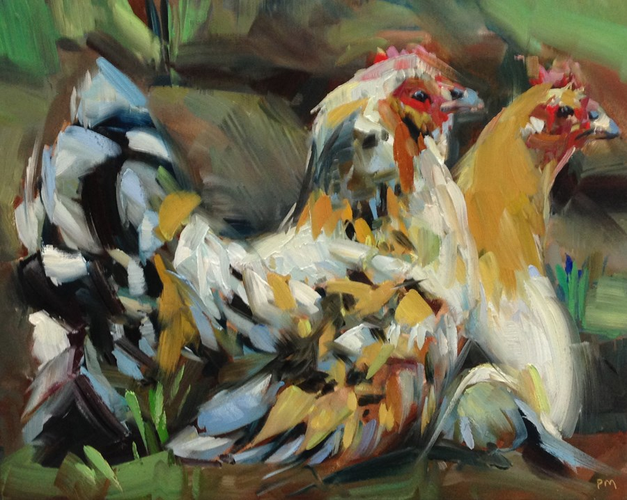 """Lucy and Ethel"" original fine art by Patti McNutt"