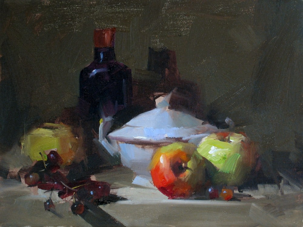 """Demo at Melbourne 1_2012 --- Sold"" original fine art by Qiang Huang"