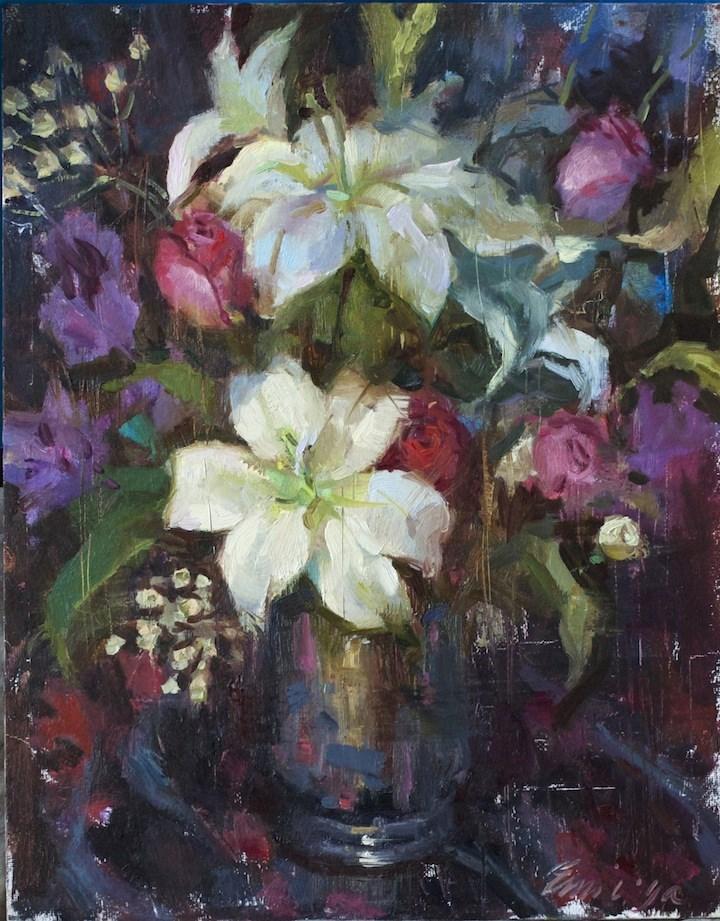 """""""Your Flowers"""" original fine art by Emiliya Lane"""