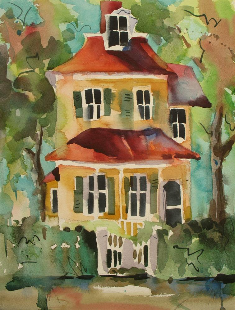 """""""Cape May Cottage"""" original fine art by Jinnie May"""