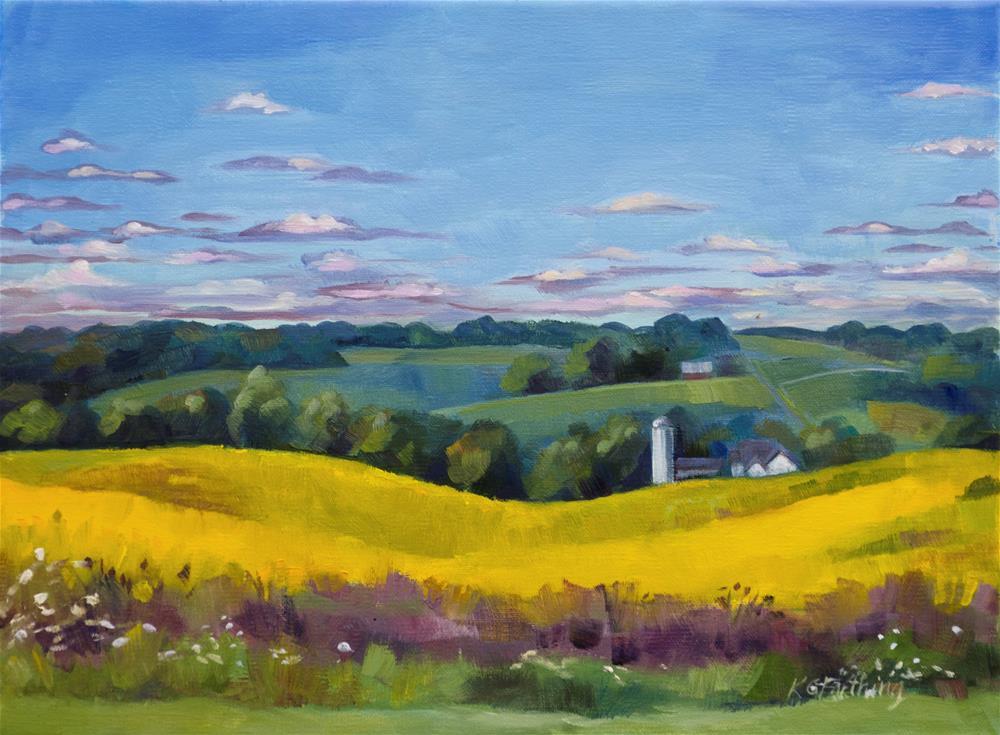 """Ohio Gold"" original fine art by Kathleen Gray Farthing"