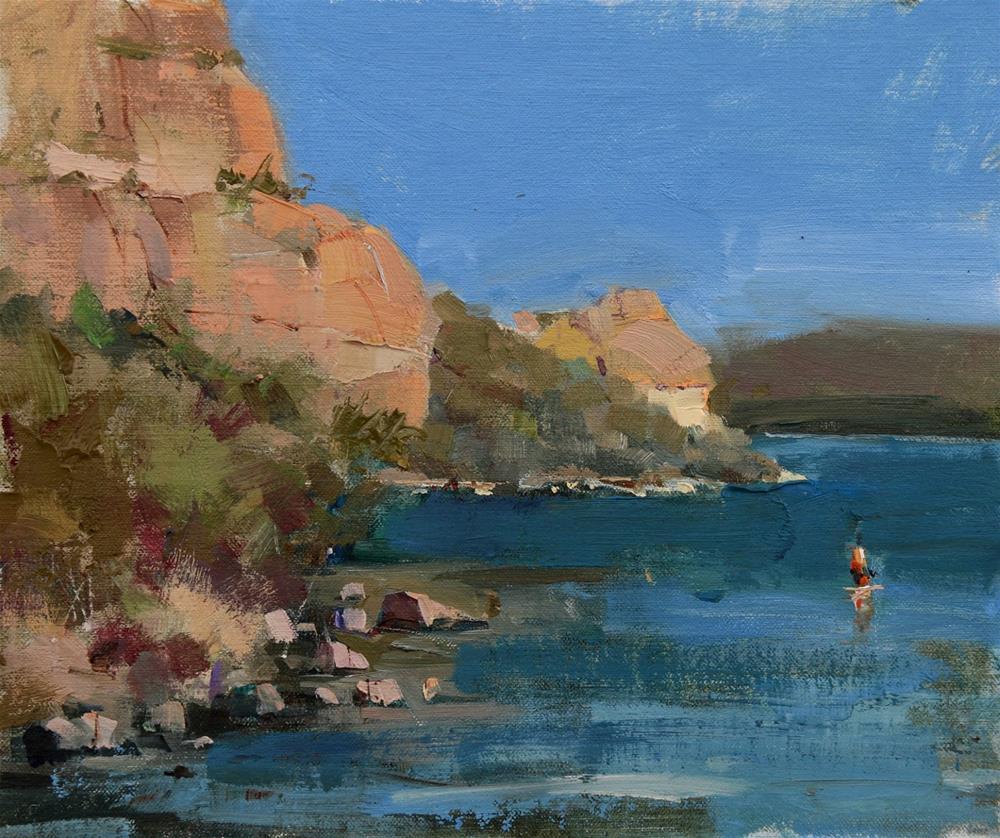 """Plein Air at Saguaro Lake"" original fine art by Qiang Huang"