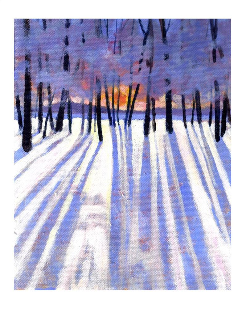 """Long Winter Shadows"" original fine art by Suzanne Woodward"