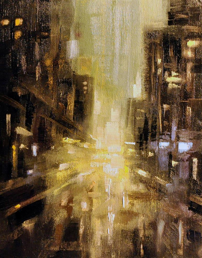 """Oncoming"" original fine art by Rl Weber"